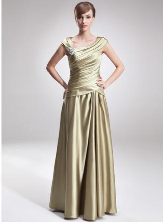 Fashion Charmeuse V-neck A-Line/Princess Mother of the Bride Dresses