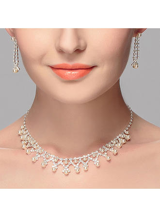 Jewelry Sets Alloy Pierced Ladies' Elegant Wedding & Party Jewelry