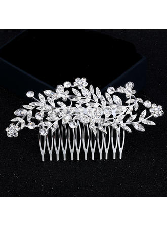 Ladies Elegant Rhinestone/Alloy Combs & Barrettes With Rhinestone