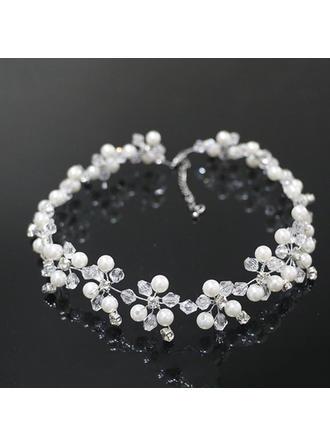 Elegant Rhinsten/Imiteret Pearl med Rhinsten/Imiteret Pearl Ladies ' Halskæder