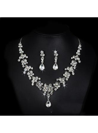 Jewelry Sets Alloy/Rhinestones Lobster Clasp Pierced Ladies' Wedding & Party Jewelry