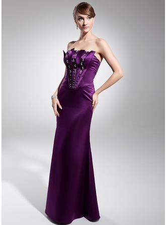 Glamorous サテン マーメイド アップジッパー イブニングドレス (017014673)