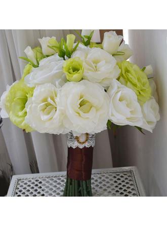 """Bridal Bouquets Free-Form Wedding Satin 9.84"""" (Approx.25cm) Wedding Flowers"""
