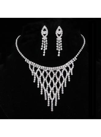 Elegante Aleación/Diamantes de imitación con Rhinestone Señoras' Sistemas de la joyería