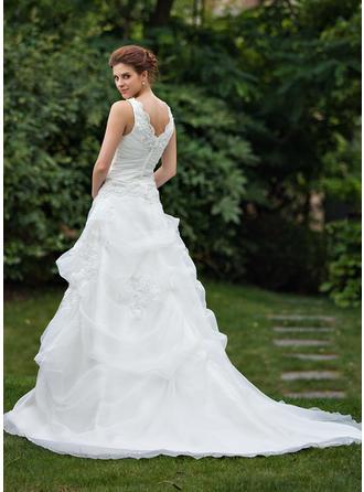 chiffon beach wedding dresses