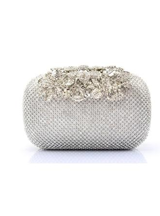 Clutches/Wristlets Wedding/Ceremony & Party/Casual & Shopping Crystal/ Rhinestone Clip Closure Charming Clutches & Evening Bags (012186531)
