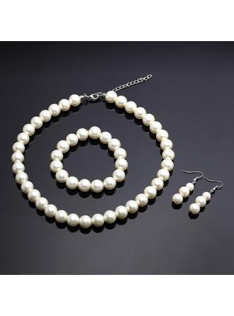 Jewelry Sets Imitation Pearls Lobster Clasp Pierced Ladies' Wedding & Party Jewelry