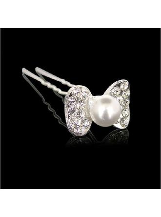 "Hairpins Special Occasion/Outdoor/Party Rhinestone/Alloy 2.95""(Approx.7.5cm) 0.87""(Approx.2.2cm) Headpieces"