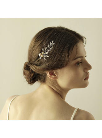 """Hairpins Wedding/Special Occasion/Party/Art photography Crystal/Alloy 2.76""""(Approx.7cm) 3.55""""(Approx.9cm) Headpieces"""