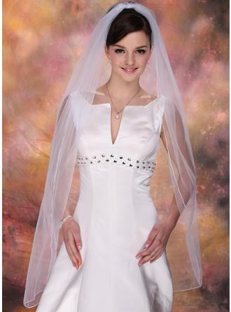 Waltz Bridal Veils Tulle One-tier Mantilla With Pencil Edge Wedding Veils
