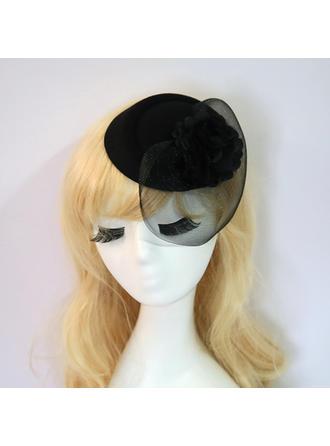 Net Yarn/Silk Flower With Silk Flower Fascinators Elegant/Charming Ladies' Hats