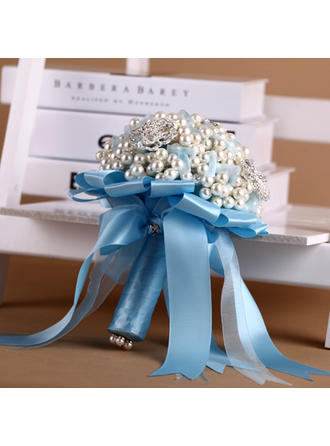 "Bridal Bouquets Round Wedding Satin 9.06""(Approx.23cm) Wedding Flowers"