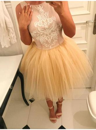 Newest Homecoming Dresses A-Line/Princess Short/Mini Scoop Neck Sleeveless