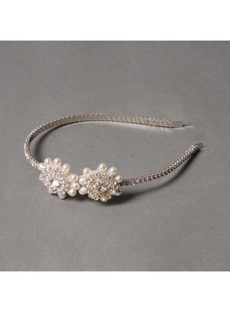Elegante Rhinestone/Aleación/Perlas de agua dulce Diademas
