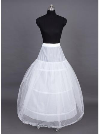 Petticoats Floor-length Nylon/Tulle Netting Ball Gown Slip/Full Gown Slip 3 Tiers Petticoats