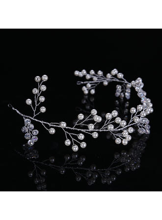 Ladies Elegant Alloy/Imitation Pearls Headbands With Venetian Pearl