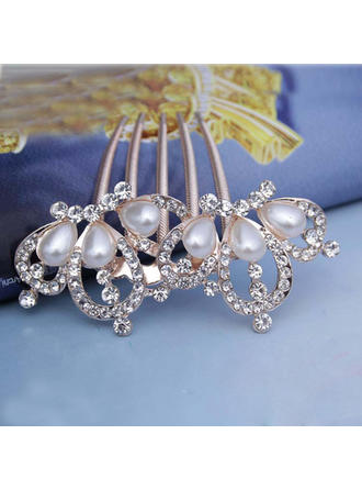 """Combs & Barrettes Wedding/Special Occasion/Casual/Outdoor/Party Rhinestone/Alloy/Imitation Pearls 3.54""""(Approx.9cm) Special Headpieces"""