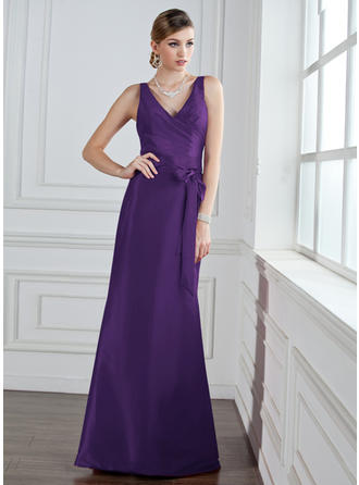 9df41640a89 Trumpet Mermaid Taffeta Bridesmaid Dresses Ruffle Bow(s) V-neck Sleeveless  Floor