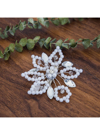 "Hairpins Wedding Rhinestone/Imitation Pearls 3.94""(Approx.10cm) 3.94""(Approx.10cm) Headpieces"
