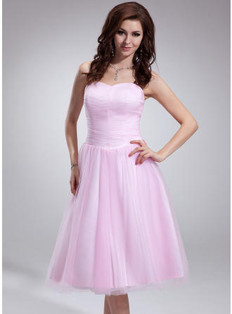 Stunning Tulle Sleeveless Sweetheart Ruffle Homecoming Dresses