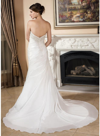 satin wedding dresses mermaid