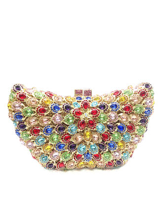 Clutches/Luxury Clutches Wedding/Ceremony & Party Crystal/ Rhinestone/Alloy Magnetic Closure Gorgeous Clutches & Evening Bags (012186161)
