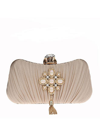 Clutches/Wristlets/Satchel/Bridal Purse/Fashion Handbags/Makeup Bags/Luxury Clutches Wedding/Ceremony & Party/Casual & Shopping/Office & Career Beading Snap Closure Elegant Clutches & Evening Bags