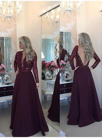 designs of evening dresses with sleeve