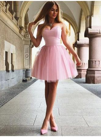 A-Line/Princess Sweetheart Short/Mini Homecoming Dresses With Ruffle