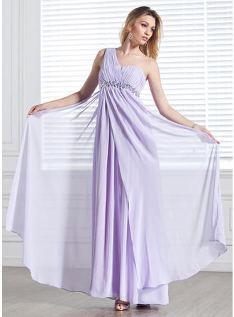 Beautiful One-Shoulder Empire Chiffon Evening Dresses