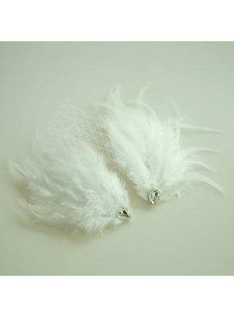 Ladies Beautiful Net Yarn/Feather Forehead Jewelry