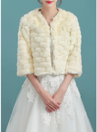Wrap Wedding Faux Fur Champagne Wraps