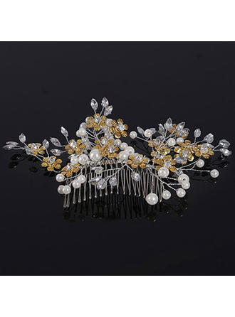 "Combs & Barrettes Wedding Crystal/Alloy/Imitation Pearls 5.91""(Approx.15cm) 3.94""(Approx.10cm) Headpieces"