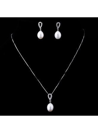 أنيق لؤلؤة/الفضة الاسترليني السيدات طقم مجوهرات