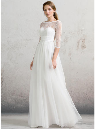 Floor-Length A-Line/Princess - Tulle Sexy Wedding Dresses