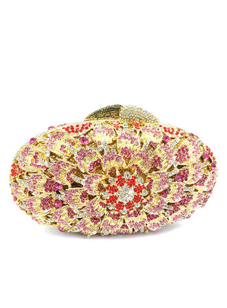 Clutches/Luxury Clutches Wedding/Ceremony & Party Crystal/ Rhinestone/Alloy Magnetic Closure Delicate Clutches & Evening Bags (012186183)