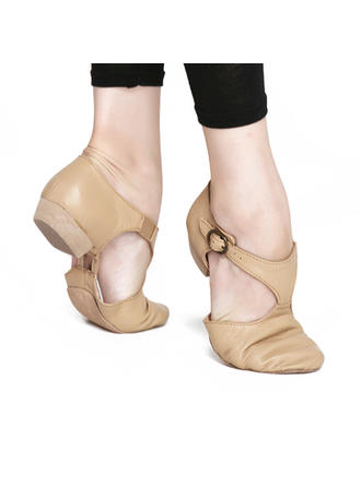 Women's Jazz Flats Real Leather Dance Shoes