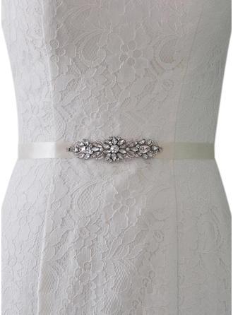 Women Satin With Rhinestones Sash Elegant/Classic Sashes & Belts