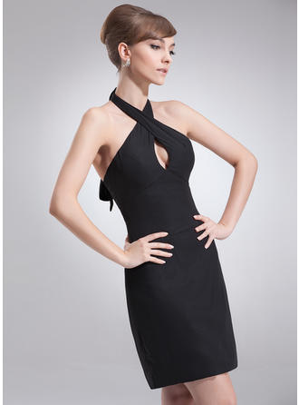 Modern Sheath/Column Chiffon Cocktail Dresses