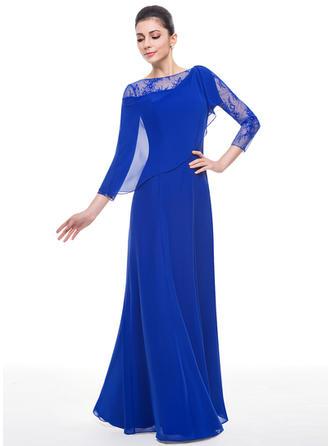 Trumpet/Mermaid Scoop Neck Floor-Length Evening Dresses