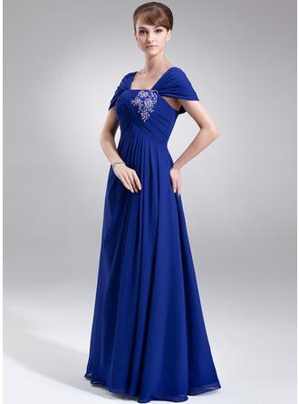 ラッフル レース ビーズ スパンコール オフショルダー Luxurious シフォン ミセスドレス (008006008)
