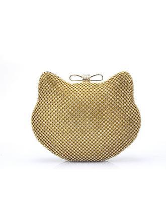 Handtaschen/Wristlet Taschen Hochzeit/Zeremonie & Party/Lässige & Einkaufen Kristall / Strass Stutzen Verschluss Schön Clutches & Abendtaschen