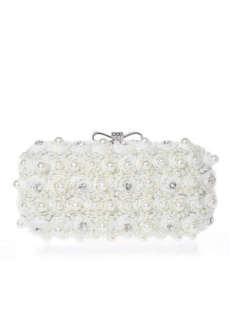 Clutches Wedding/Ceremony & Party Lace Clip Closure Pearl Style Clutches & Evening Bags