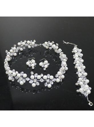Элегантные Стразы/Перлы ложный с горный хрусталь/Перлы ложный женские Комплекты ювелирных изделий