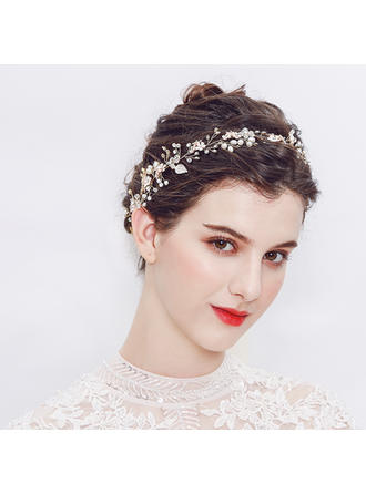Fashion Alloy/Imitation Pearls Headbands (042136728)