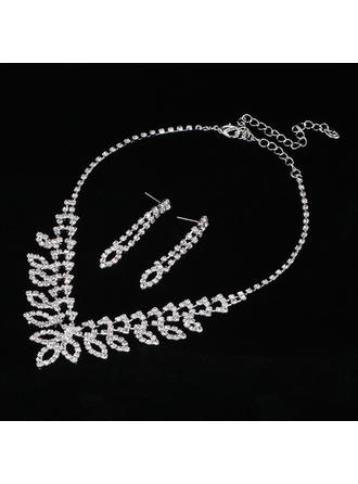 Jewelry Sets Alloy/Rhinestones Lobster Clasp Ladies' Elegant Wedding & Party Jewelry