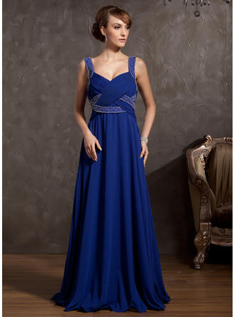 Simple Floor-Length Empire Chiffon Mother of the Bride Dresses