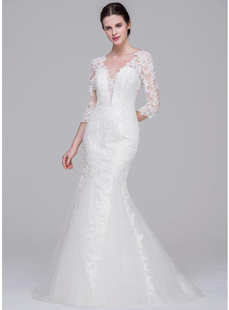 Tulle Lace Trumpet/Mermaid Luxurious Wedding Dresses