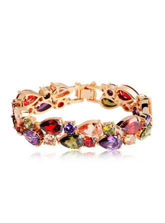 Bracelets Alloy/Zircon Ladies' Elegant Wedding & Party Jewelry