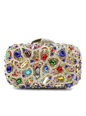 Clutches Wedding/Ceremony & Party Alloy Clip Closure Gorgeous Clutches & Evening Bags (012188172)